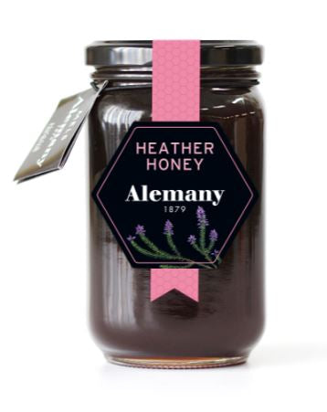 Alemany 1879 Heather Honey (500gr.) - 100% Spanish, raw, all-natural, and organic honey.