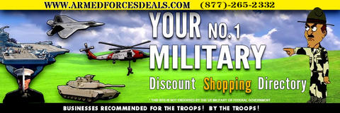 A1) Platinum Pkg #1.The Banner ad Top (900 X 300 PXLS), 8X3Ft Storefront Banner, up to 350 + Cars with 27 pictures per car loaded on the website.Term 1 Year Located on top at www.armedforcesdeals.com