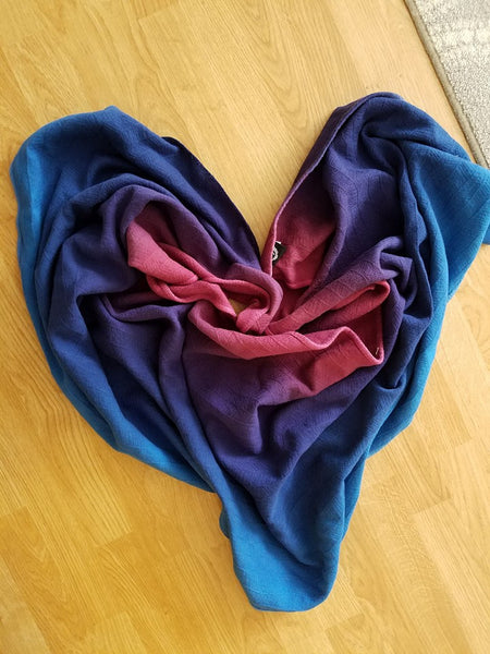 "Partita no. 6 - dyed Ring Sling (Size L/XL) - ""From My Heart"""