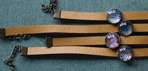 Wrap Scrap Leather Bracelets