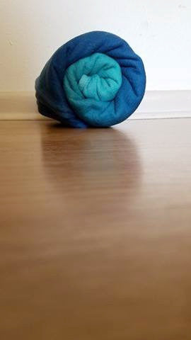"Partita no. 6 - dyed - Size 6 ""Afternoon Teal"""