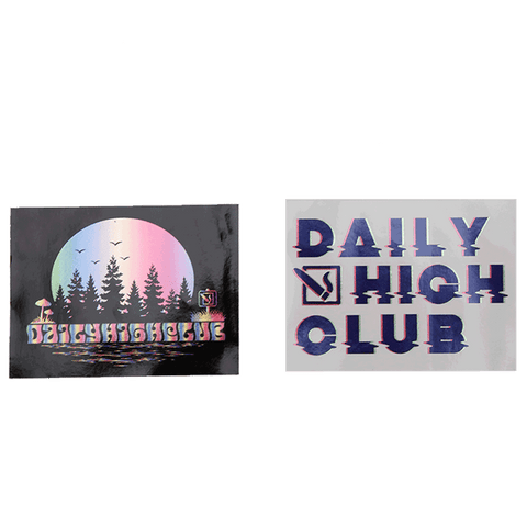 Daily High Club August Unboxing Sticker Set