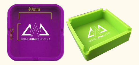 DHC September Subscription Box Smoking Supplies Silicone Ashtray