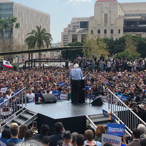 A Weekend With the Daily High Club CEO Bernie Sanders Rally