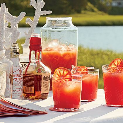 Halloween Munchies for a Spooktacular Holiday Blood Orange Bourbon Coolers