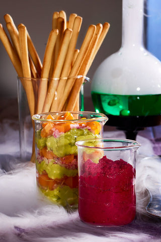 Halloween Munchies for a Spooktacular Holiday Test Tube Dips