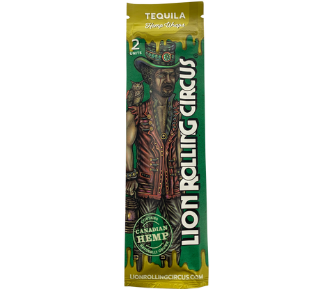 Lion Rolling Circus Tequila Flavored Hemp Blunt Wraps