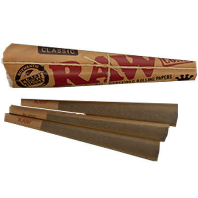 RAW 3 Pack King Size Cones