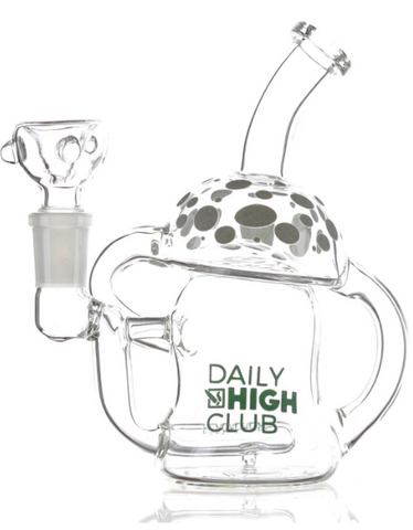 Glow in the Dark Mushroom Recycler Bong / Dab Rig