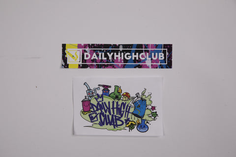 Daily High Club July Graffiti Sticker Set