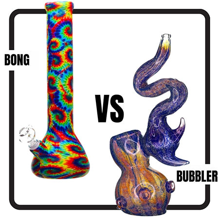 difference between bong and bubbler