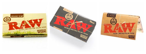 raw single wide papers