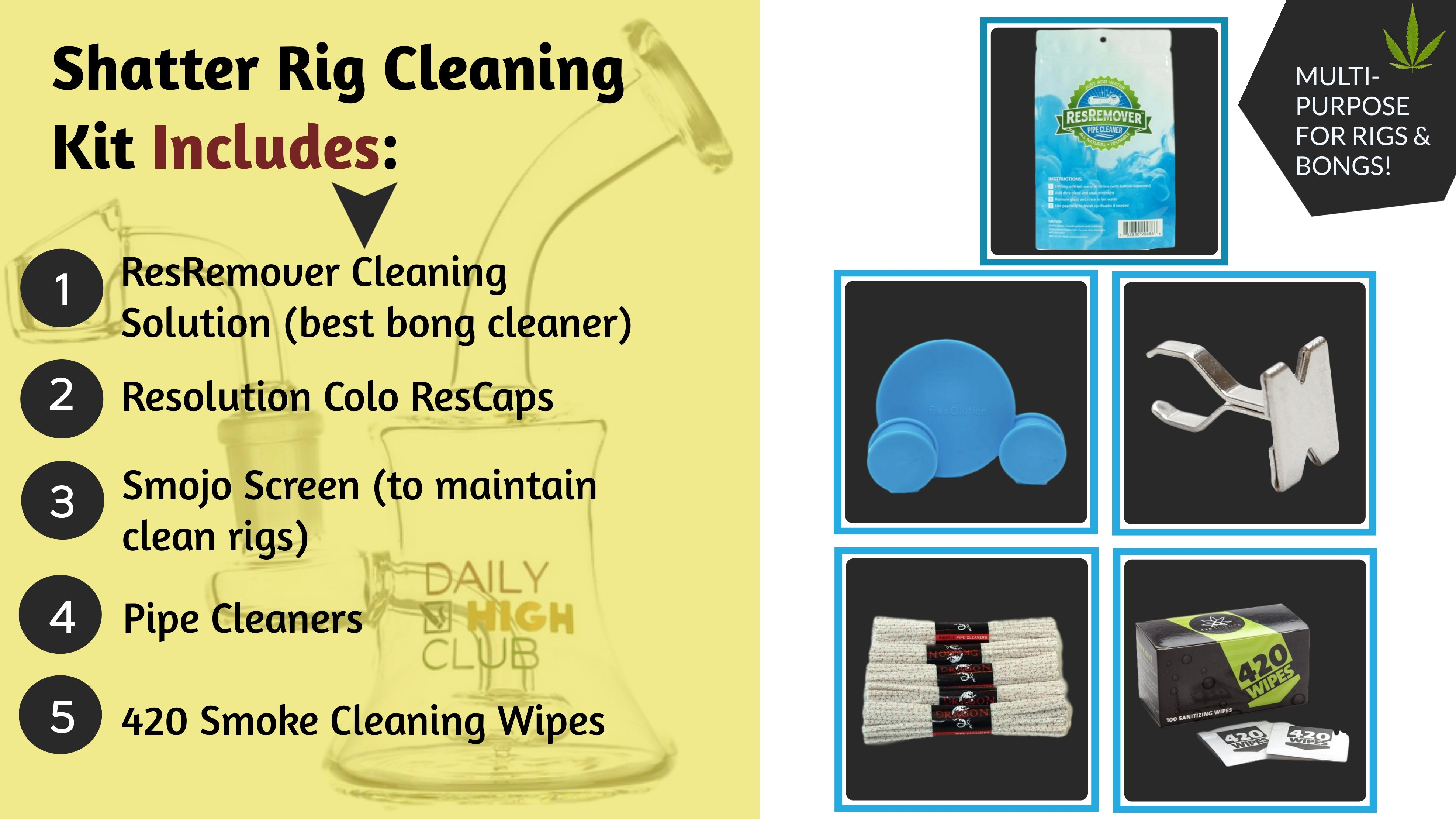 shatter rig cleaning kit
