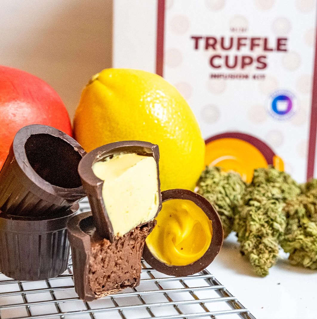 thc infused truffle cups