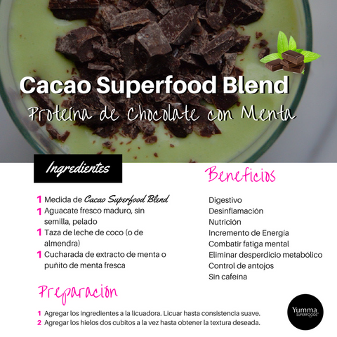 Cacao Superfood Blend recetas