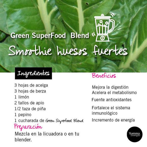 Recetas Green Superfood Blend
