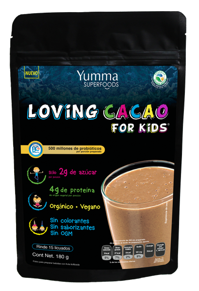 Loving Cacao for Kids con Probióticos 180 gr