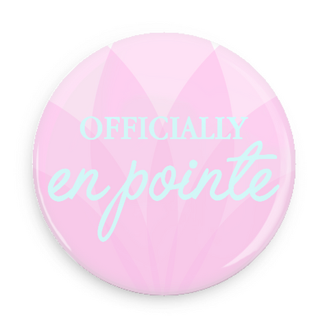 Button - Officially En Pointe (Pink/Blue)