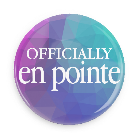 Button - Officially En Pointe (Blue/Teal)