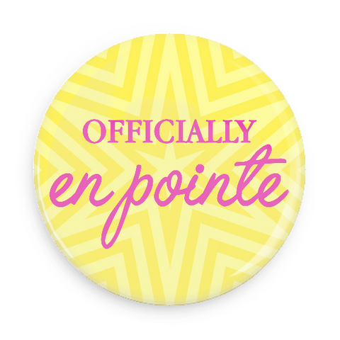 Button - Officially En Pointe (Yellow Star)