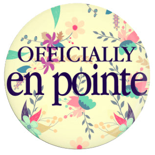 Button - Officially En Pointe (Yellow Floral)