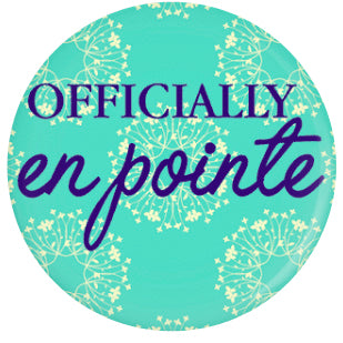 Button - Officially En Pointe (Blue Floral)
