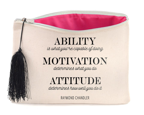 Canvas Cosmetic Bag - Raymond Chandler Quote