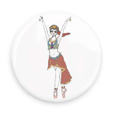 Pocket Mirror - Arabian Dancer / Coffee