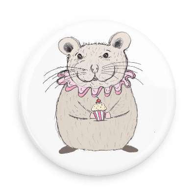 Pocket Mirror - Cupcake Mouse