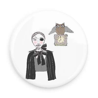 Pocket Mirror - Drosselmeyer & Owl Clock