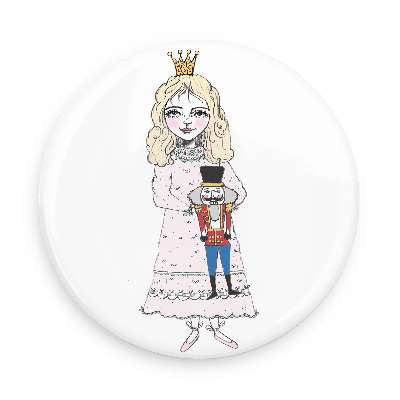 Pocket Mirror - Princess & Nutcracker