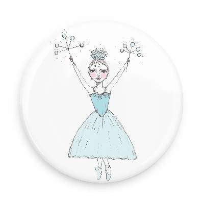 Pocket Mirror - Snowflake Ballerina