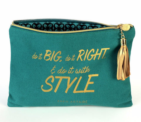 Canvas Cosmetic Bag - Fred Astaire Quote