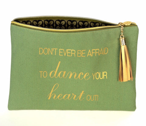 Canvas Cosmetic Bag - Dance Your Heart Out