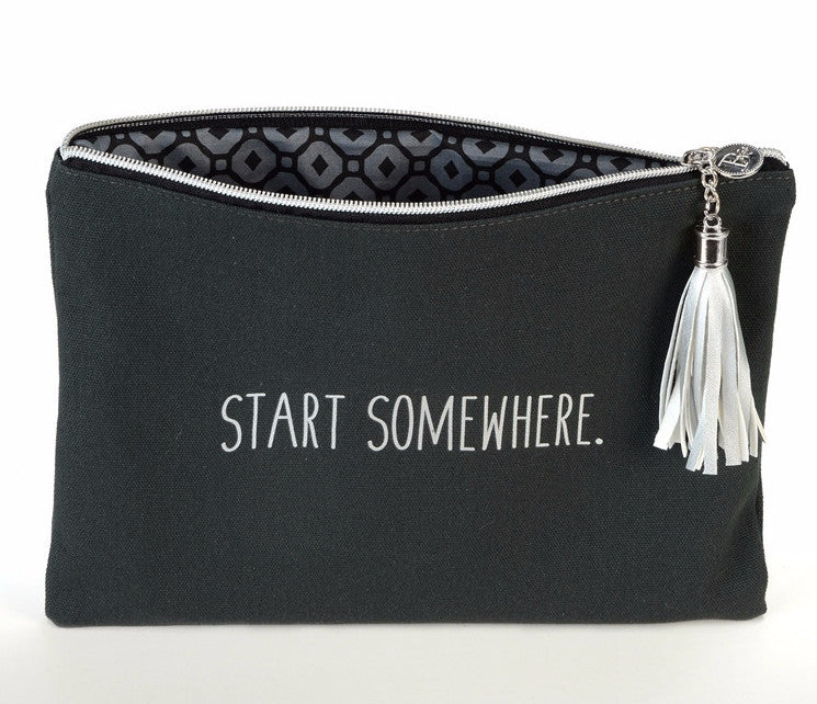 Canvas Cosmetic Bag - Start Somewhere