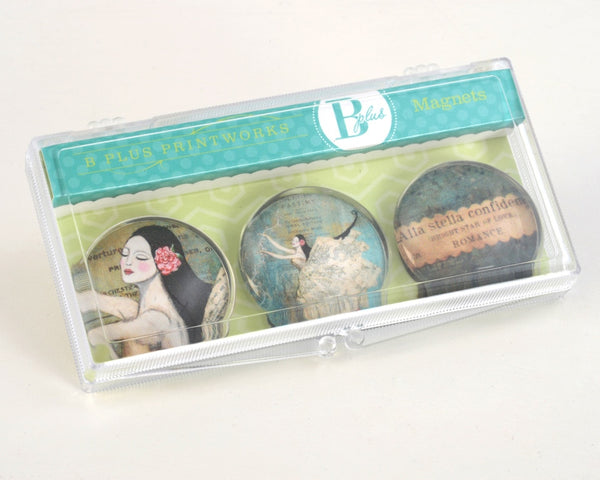Glass Magnet Set - Bright Star of Love