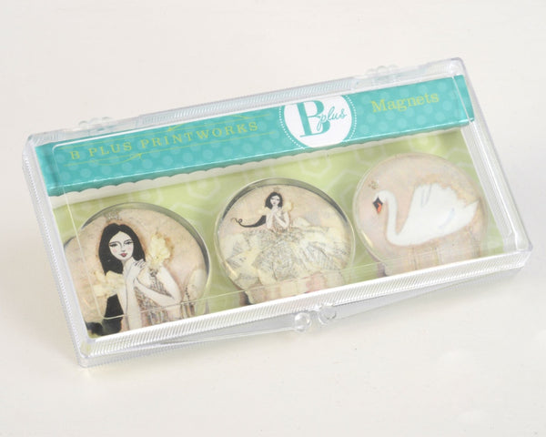 Glass Magnet Set - Swan Dance