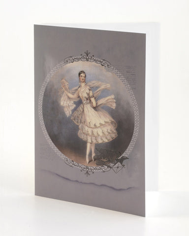 Embossed Greeting Card - Marie Taglioni / Letter