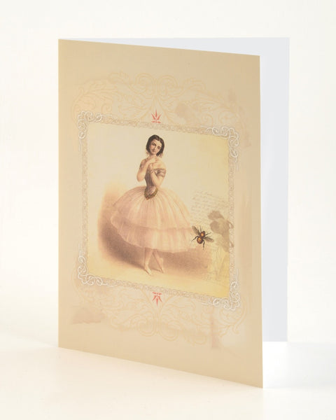 Embossed Greeting Card - Marie Taglioni / Bee