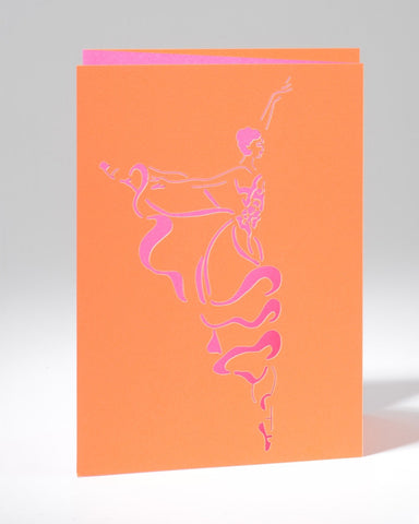 Laser Cut Greeting Card - Arabesque