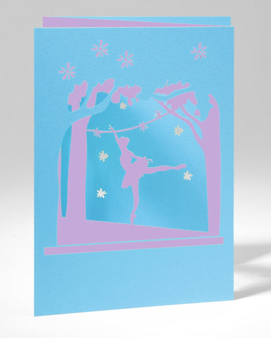 Laser Cut Greeting Card - Ballerina