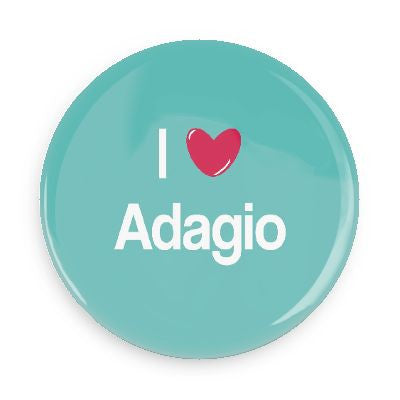 Button - I Love Adagio