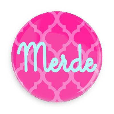 Pocket Mirror - Merde (Pink)