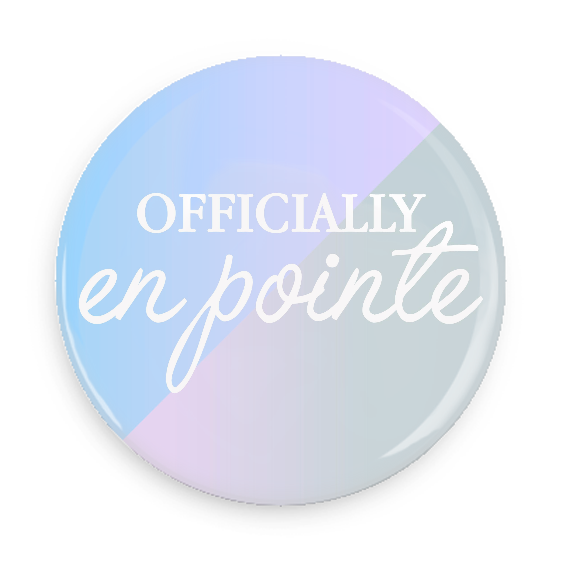 Pocket Mirror - Officially En Pointe (Blue/Grey)