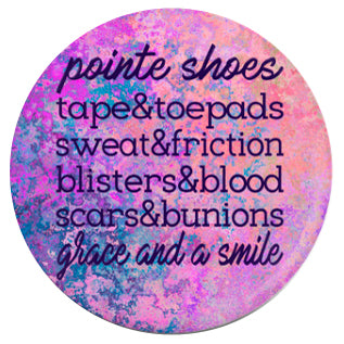 Button - Pointe Shoes...Grace And A Smile