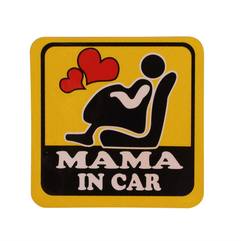 Mama In Car - Expectant Mother Decal (FREE SHIPPING)