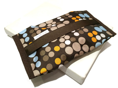 Wipe Pouch - Brown Dots