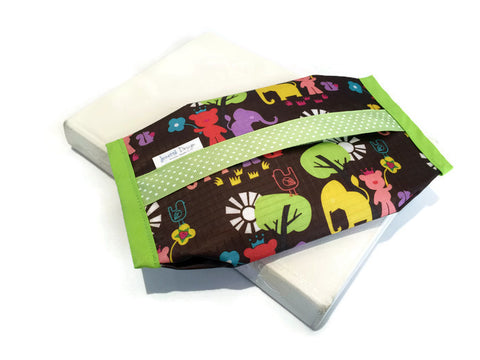 Wipe Pouch - Lime Green Forest