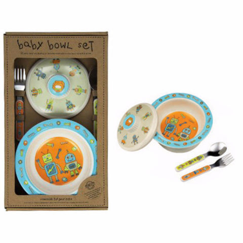 Suction Bowl & Silverware Gift Set