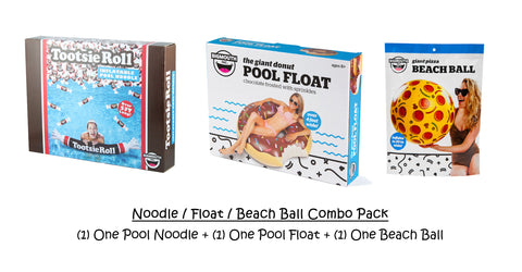 Pool Noodle / Float / Beach Ball Inflatables Combo Pack